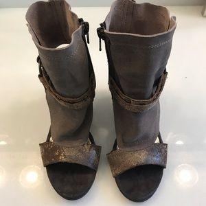 Diba Open Toe Wedge Sandal Boot